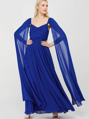 Monsoon Lucie Off Shoulder Maxi Dress - Blue