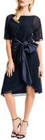 Cynthia Steffe Half-Sleeve Caftan Dress W/ Satin Sash