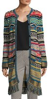 Etro Tapestry Knit 3/4-Length Cardigan