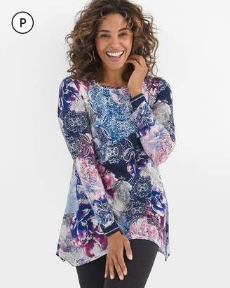 Zenergy Petite Cool Floral Tunic
