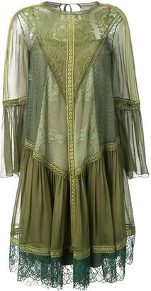 Alberta Ferretti Lace Detailed Dress