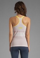 adidas by Stella McCartney Athletic Top in Mauve Grey/Magic Yellow