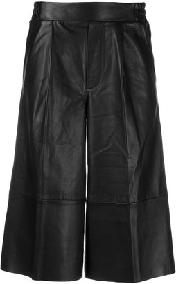 Remain Wide-Leg Leather Culottes