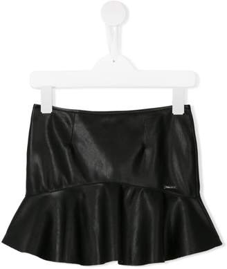 DSQUARED2 leather effect mini skirt