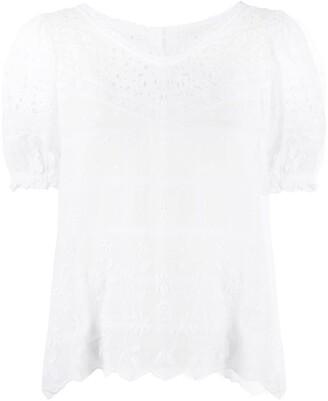 LoveShackFancy Concord short-sleeved blouse