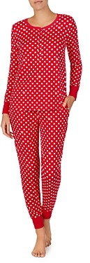 Kate Spade Printed Long Sleeve Pajama Set