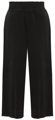 Issey Miyake Le Pain Wide-leg Cotton-blend Culottes - Womens - Black