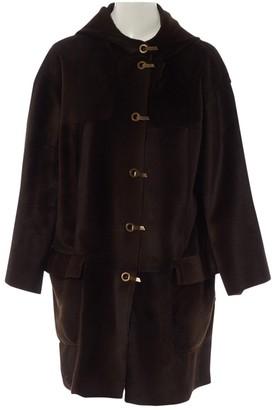 Lanvin Brown Shearling Coat for Women