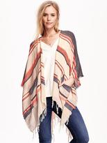 Old Navy Textured Stripe Poncho Scarf for Women