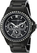 Vince Camuto Women's Grey Swarovski Crystal-Accented Multi-Function Matte Bracelet Watch