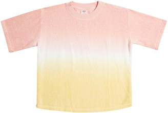 Terry Dyed Cotton Terry Towelling T-Shirt With Ribbed Hem Cotton T-Shi