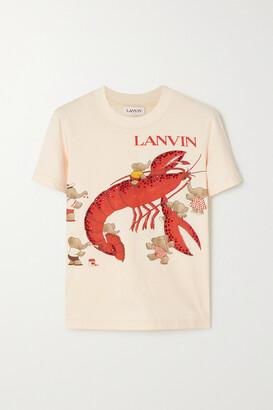 Lanvin - + Babar Crystal-embellished Printed Cotton-jersey T-shirt - Ecru