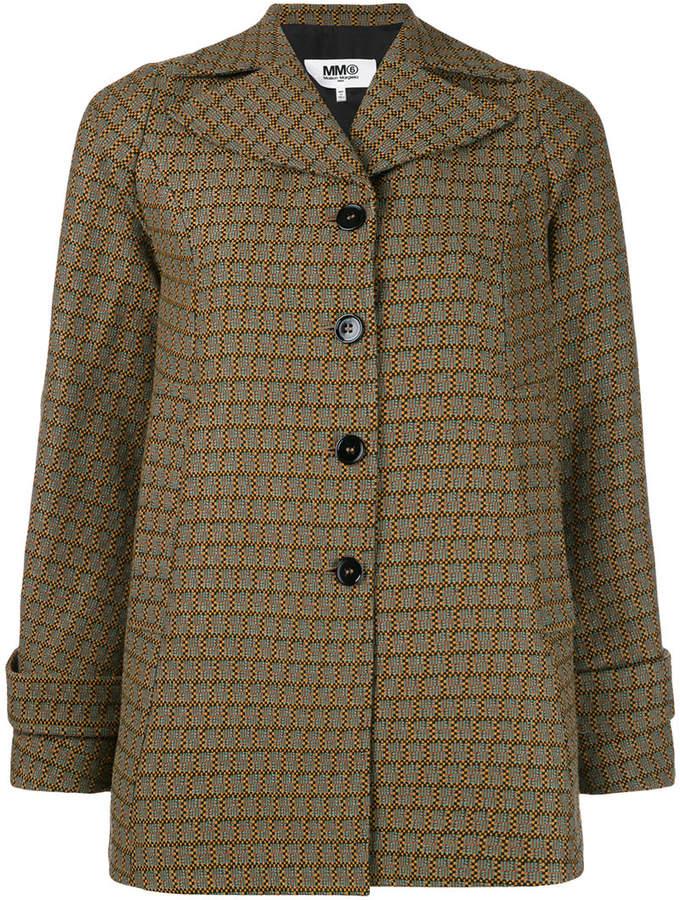 MM6 MAISON MARGIELA check woven jacket