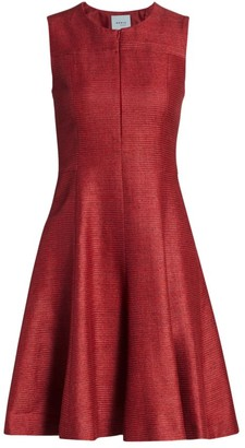 Akris Punto Ribbed Silk Fit-&-Flare Dress