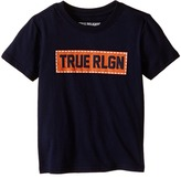 True Religion Box Stitch Tee Shirt (Toddler/Little Kids)