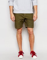 Brave Soul Canvas Shorts - Green