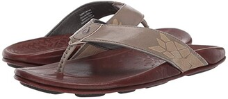 OluKai Kulia (Black/Black) Men's Sandals