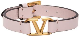 Valentino Pink Garavani VLogo Bracelet