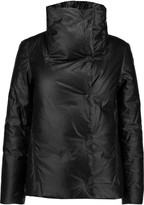 DKNY Coated linen and cotton-blend down coat