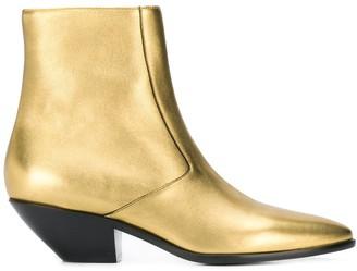 Saint Laurent West 45 metallic boots