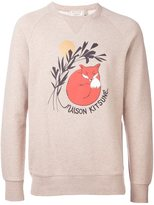 MAISON KITSUNÉ sleeping fox print sweater