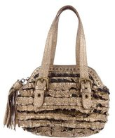 Moschino Cheap & Chic Moschino Cheap and Chic Metallic Ruffle Handle Bag
