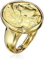 Kenneth Jay Lane Polished and Satin Gold-Tone Adjustable Ring