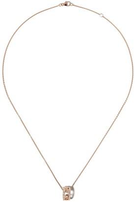 De Beers 18kt rose gold Dewdrop diamond pendant necklace