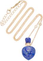 Jacquie Aiche Small Heart Lapis Potion Bottle Necklace
