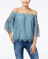 Jessica Simpson Delani Off-The-Shoulder Lace Top