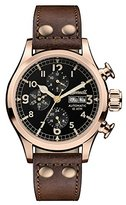 Ingersoll Men's The Armstrong Automatic Watch with Black Dial and Brown Leather Strap I02201