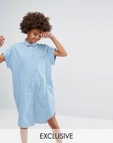 Monki Gingham Short Sleeved Shirt Dress