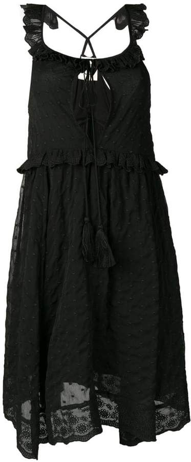 Semi-Couture Semicouture embroidered sleeveless dress