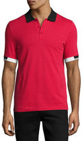 Fred Perry x Raf Simons Polo Shirt with Contrast Tipping, Black