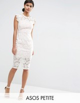 Asos Lace Pencil Dress with Contrast Lining