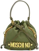Moschino bucket tote - women - Leather/Polyester - One Size