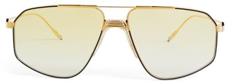 Jacques Marie Mage Jagger Oversized Aviator Sunglasses