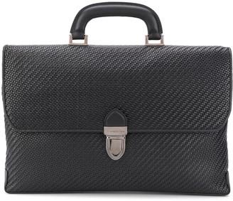 Ermenegildo Zegna Top-Handle Woven Briefcase