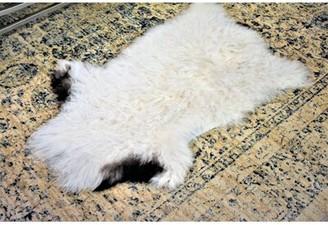 "Burgin Animal Print Handmade 2' x 3'2"" Sheepskin White Indoor / Outdoor Area Rug Millwood Pines"
