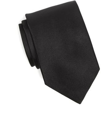 Drakes Silk Solid Tie in Black