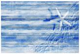 "Parvez Taj Starfish White Wood Wall Art - 36\"" x 24\"""
