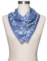 Mossimo Women's Floral Blue Handkerchief