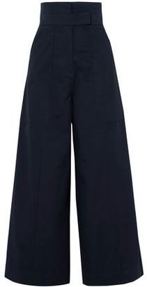 SOLACE London Hestia Cotton-poplin Wide-leg Pants