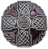Fancy Apparel Irish Celtic Knot Weave Medieval Cross Shield Belt Buckle Mens Vintage Western