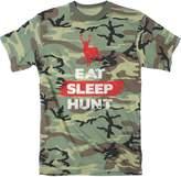 Crazy Dog T-shirts Crazy Dog Tshirts Mens Eat Sleep Hunt Funny Deer Hunting uflage Print T shirt