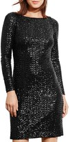 Lauren Ralph Lauren Sequin Cutout Back Dress