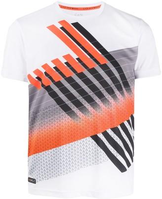 Ea7 Emporio Armani geometric print slim-fit T-shirt