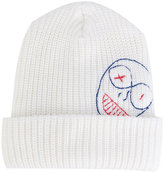 Vivienne Westwood embroidered beanie - men - Wool - One Size