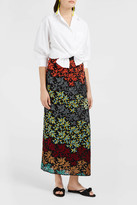 Missoni Floral-Knit Split Maxi Skirt