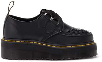 Dr. Martens Sidney Low Lace-up Shoe In Black Leather With Wedge